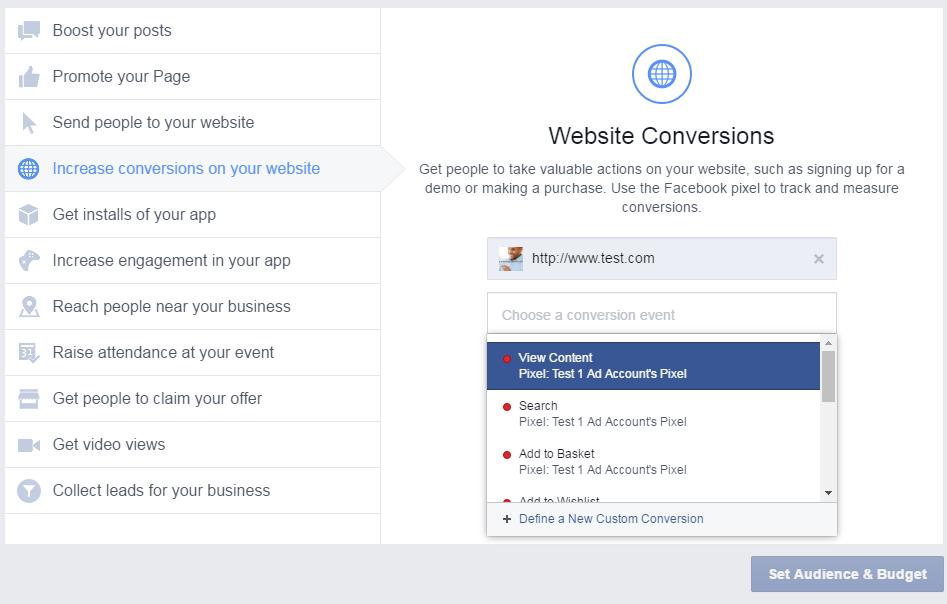 Facebook Re-marketing Set Up